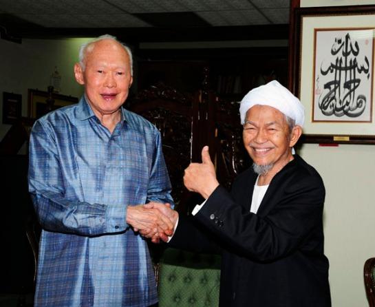 Image result for Nik Aziz Nik Mat and Anwar Ibrahim