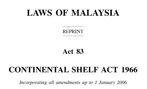 Continental Shelf Act - header