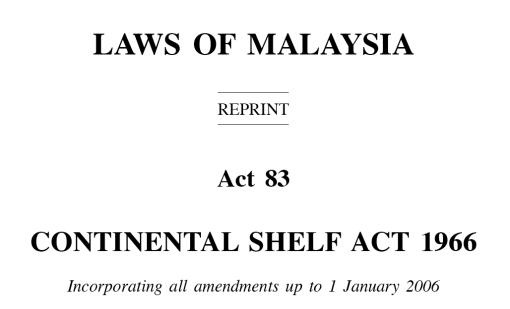 Continental Shelf Act - header