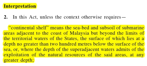 Continental Shelf Act - Seabed