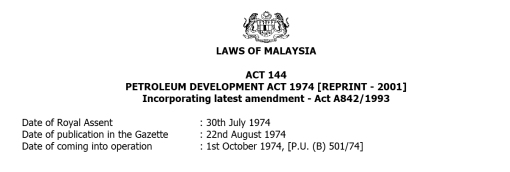 Petroleum Act 1