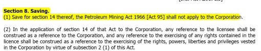 Petroleum development Act - Cancelling 1966