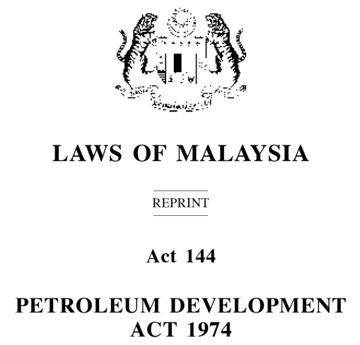 Petroleum Development Act - Header