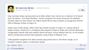 Kenyataan DBS Nik Aziz.